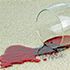 red stain on carpet spilled wine